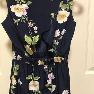 Scalloped hem cutout dress